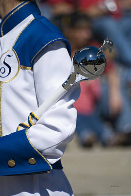 Marching Band Photograph - Drum Major Baton by Thomas Woolworth