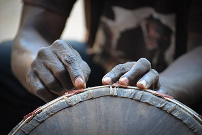 Photograph - Drum Maker's Hands I by Ronda Broatch