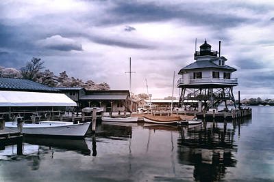 Drum Point In Infrared Watercolor Art Print