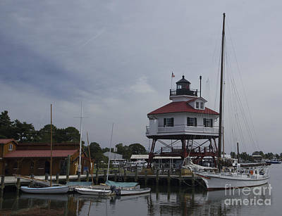 Art Print featuring the photograph Drum Point Light by ELDavis Photography