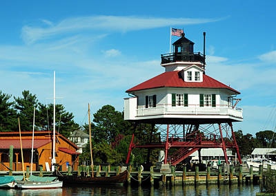 Chesapeake Bay Photograph - Drum Point Lighthouse by Rebecca Sherman