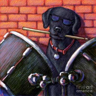 Drummer Mixed Media - Drum Roll - Black by Kathleen Harte Gilsenan
