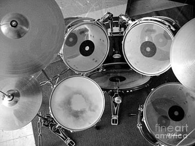 Drum Set 01 Art Print by E B Schmidt