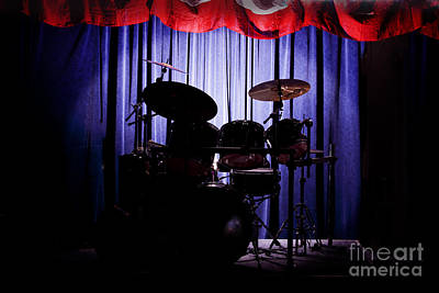 Photograph - Drum Set On Stage Photograph Combo Jazz Color 3234.02 by M K Miller