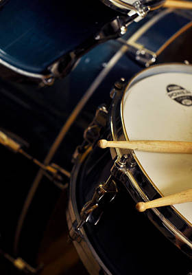 Photograph - Drum Sticks With Drum Set by Rebecca Brittain