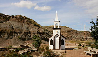 Photograph - Drumhellers Little Church by Betty-Anne McDonald