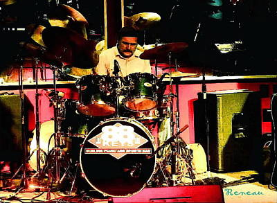 Drummer At 88 Keys Seattle Wa Art Print