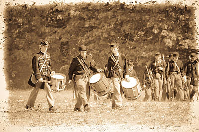 Marching Band Photograph - Drummer Boys by Steve McKinzie