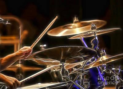 Drummer Art Print