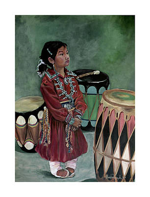 Drummer Girl Art Print