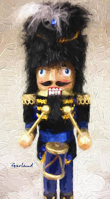 Drummer Mixed Media - Drummer Nutcracker by Garland Johnson