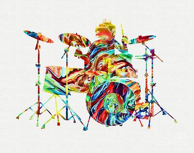 Mixed Media - Drummer by Olga Hamilton