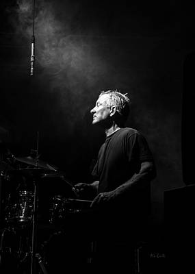 Beat Photograph - Drummer Portrait Of A Muscian by Bob Orsillo