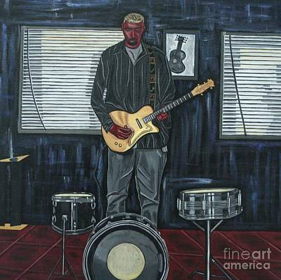 Bruce Springsteen Art Painting - Drums And Wires by Sandra Marie Adams