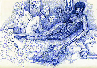 Drunken Cleopatra Original by Ovidiu Panighiant
