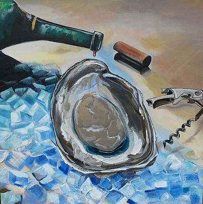 Painting - Drunken Oyster by John  Duplantis