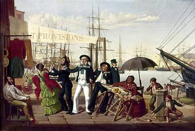 Carlin Painting - Drunken Sailors, 1857 by Granger