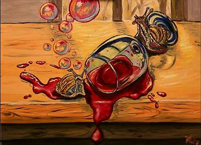 Painting - Drunken Snails by Alexandria Weaselwise Busen
