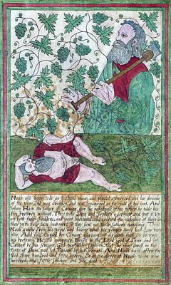 Drunkenness Of Noah Art Print by Folger Shakespeare Library