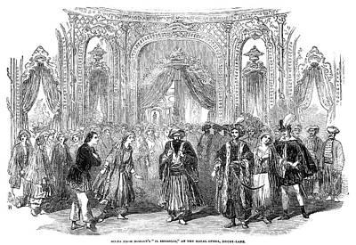 Drury Lane Theatre, 1854 Art Print