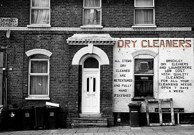 Urban Street Photograph - Dry Cleaners by Mark Rogan