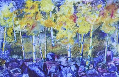 Dry Creek Aspens Art Print