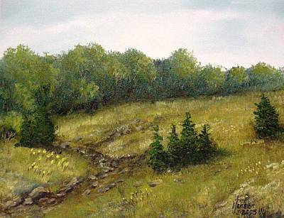 Art Print featuring the mixed media Dry Creek by Kenny Henson