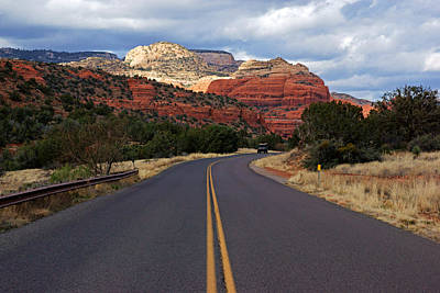 Photograph - Dry Creek Road Through Sedona's Red Rocks by Daniel Woodrum