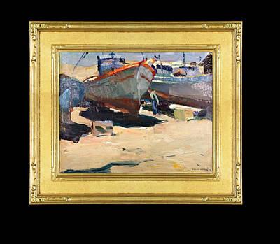 Monterey Wharf Painting - Dry Dock by Jeffrey Hook