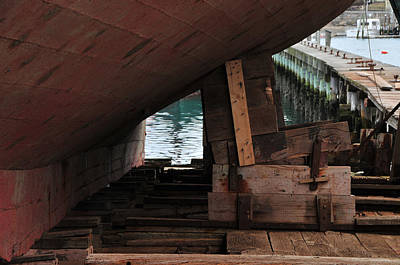Dry-dock Art Print by Mike Martin
