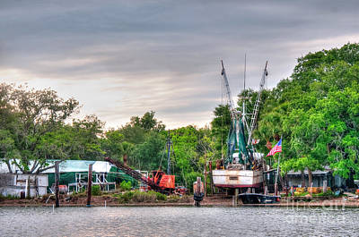 Shrimpboats Wall Art - Photograph - Dry Docked Shrimp Boat by Scott Hansen