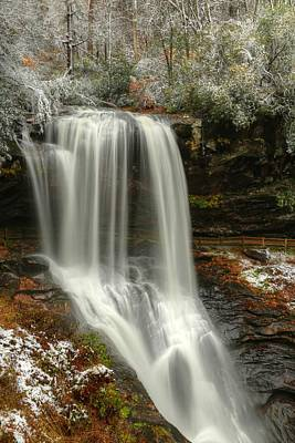 Photograph - Dry Falls Autumn And Snow by Carol Montoya