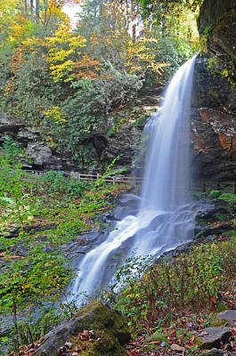 Dry Falls In Highlands Nc Art Print by Mary Anne Baker