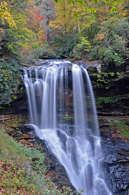 Dry Falls In Highlands North Carolina Art Print by Mary Anne Baker