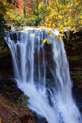 Photograph - Dry Falls North Carolina by John Haldane