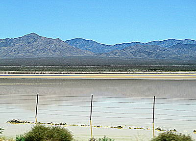Dry Lakebed With Water Art Print by Randall Weidner