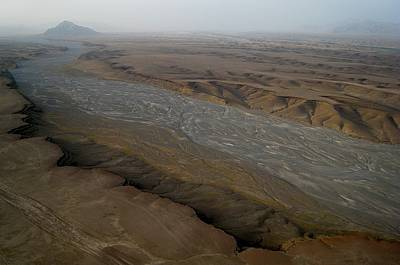 Helicopter Photograph - Dry River Bed In Helmand Province Afghanistan by Jetson Nguyen