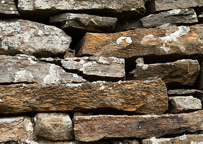 Photograph - Dry Stone Wall by Eliza Donovan