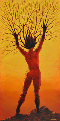 Painting - Dryad by Glenn Pollard