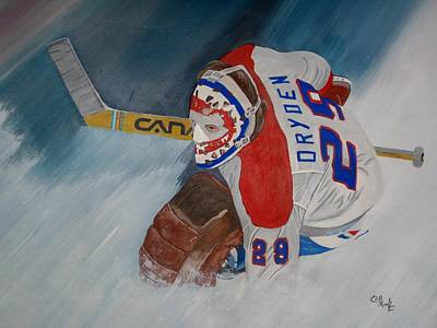 Canadiens Painting - Dryden by Clifford Knoll