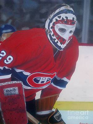 Nhl Painting - Dryden by Graham McLeod