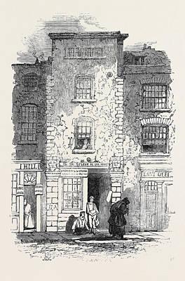 Drydens House, Fetter Lane Art Print by English School
