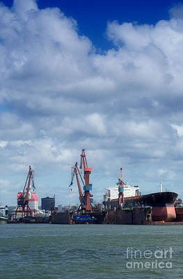 Photograph - Drydock At Gothenburg 01 by Antony McAulay