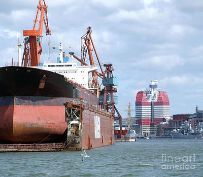 Photograph - Drydock At Gothenburg 03 by Antony McAulay