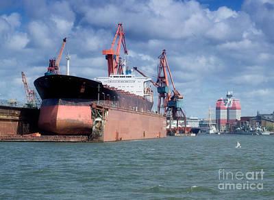 Photograph - Drydock At Gothenburg 04 by Antony McAulay