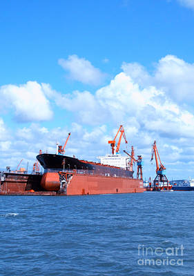 Photograph - Drydock At Gothenburg 05 by Antony McAulay