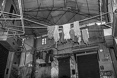 Photograph - Drying Wool by Ellie Perla