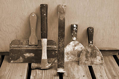 Photograph - Drywall Tools by Melinda Fawver