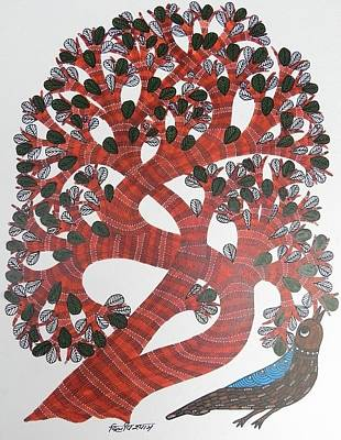 Gond Art Gallery Painting - Ds 516 by Dilip Shyam