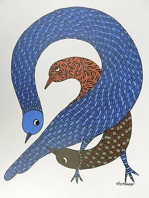 Gond Artist Painting - Ds 525 by Dilip Shyam